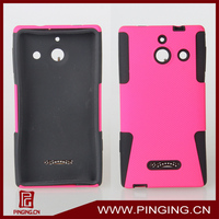 Mesh combo cell phone case for huawei ascend w1