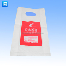 Customer design plastic die cut shopping bags with handle