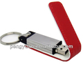 Wholesale promotional gift business leather usb flash drive1gb/2gb 4gb/8gb