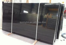 polished edge Royal gold black Marble stone for table top