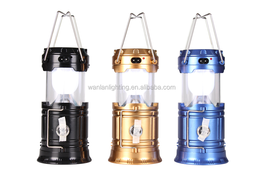 Collapsible rechargeable camping lantern