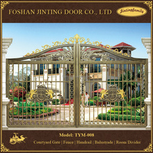 Electric Aluminum alloy villa yard gate for vocation hotel