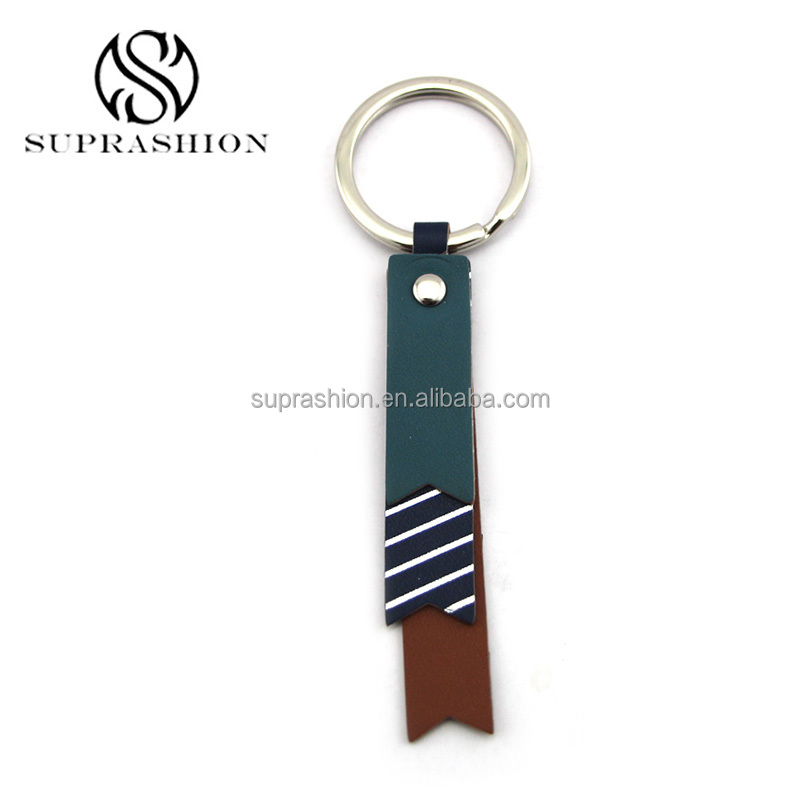 FOB UK Women Metal Leather Hanging Key Ring Chain