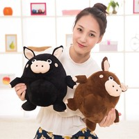 cartoon cute pig plush dolls promotional hand puppets stuffed animals