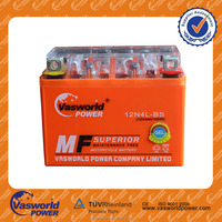 quickly charging time 12v 4ah motorcycle battery with long runing time
