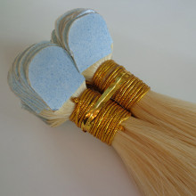 Tape hair extensions 100% human hair mini flower tape hair extensions