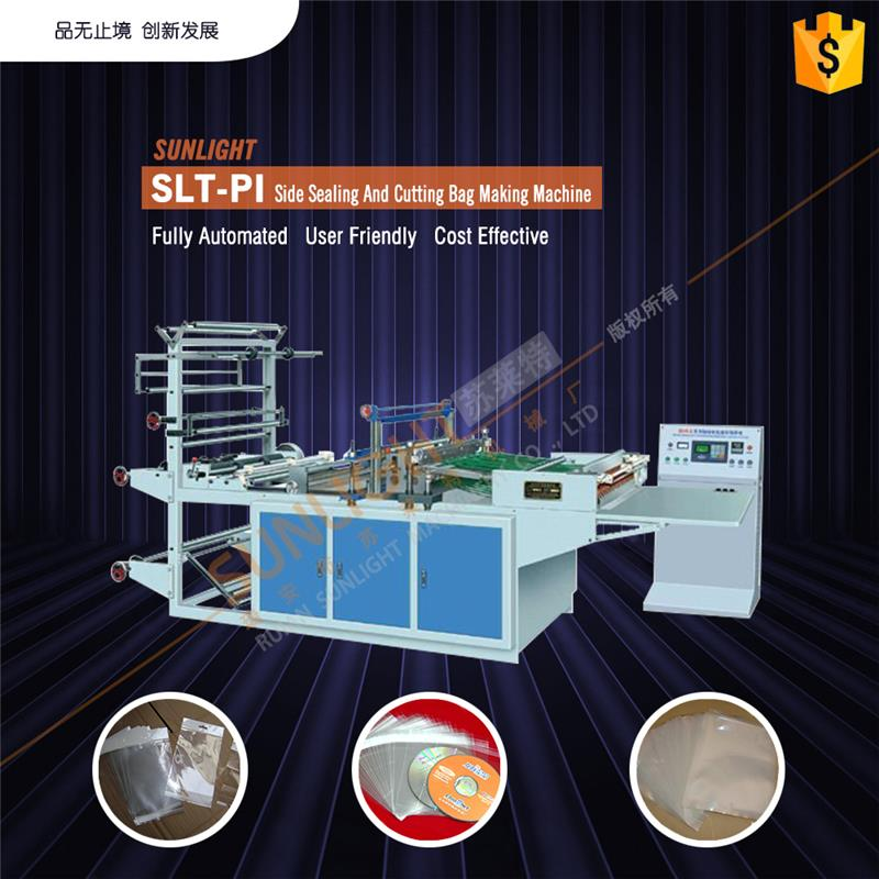 Side hot sealing and cutting bag making machine plastic