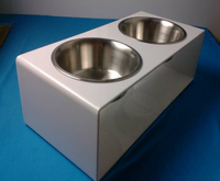 Custom Plastic wholesale pet feed dog bowl dog feeding trough with cheap price