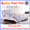 Alibaba Hot Selling plywood double bed designs Happy NIght sleeping bed