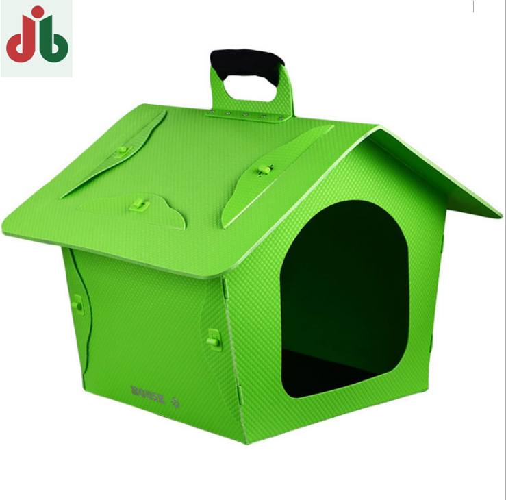 OEM ODM plastic foldable folding dog cat pet kennel outdoor