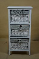 Hand-woven Willow Drawers Storage Cheap Wood Hobby Lobby Cabinets Wholesales