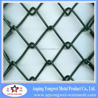 strong pvc galvanized gabion chain link channel fence