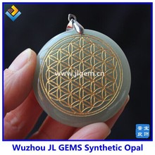 Hot New Products For 2017 Natural Quartz Crystal Flower of Life Pendant In China Market
