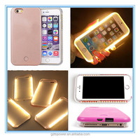 2016 New Trending Slim Luminous led for iphone case for iphone 6 6s protective selfie led light case