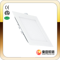 24W LED Flat Square Ultra Slim Recessed Ceiling Light Flush Mounted Panel Lamp Light Cool White with ETL Qualified