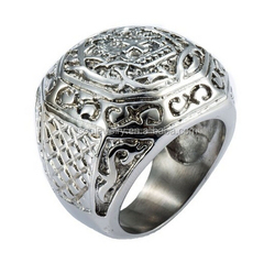 new exquisite metal jewelry wholesale fancy ring on the finger simple cross design popular style in alibaba