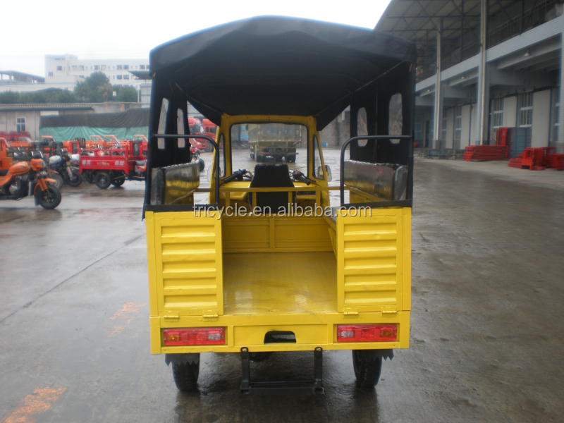 China passenger Middle engine bajaj three wheel motorcycle/Tuk Tuk