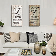 Original Personalized Love words Art Print on Wood