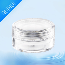 empty cosmetic jar 10ml PS PP material
