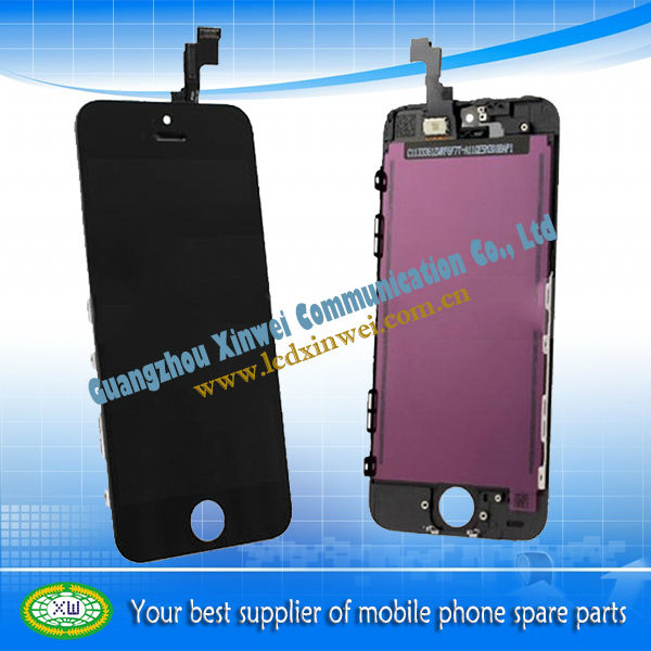 Lcd paner digitizer screen+mobile phone spare parts for iphone 5s