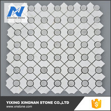 Dolomite and dark grey marble mosaic,high quality tile marble