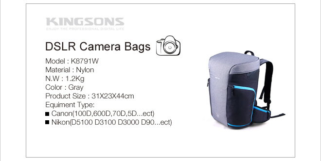 Waterproof professional new dslr camera bag