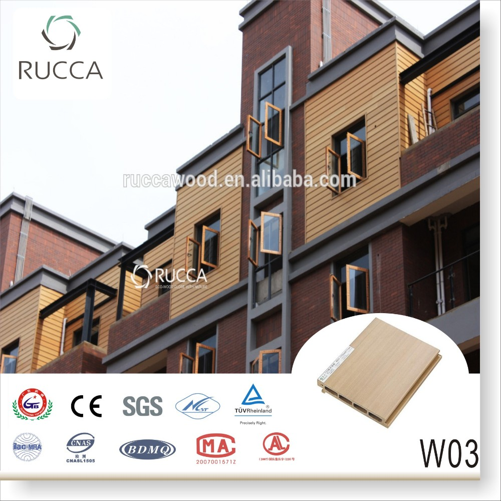 Foshan Rucccawood Exterior Wall Panels Lows Cheap Wall Paneling Wpc Wall Panel 170 17mm China