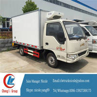 5ton dongfeng meat hook refrigerator truck, refrigerated standby electric unit truck