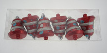 Hand painted bell shaped christmas tree decoration