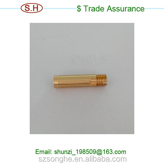 High precision Brass shaft pins CNC processing in Dongguan