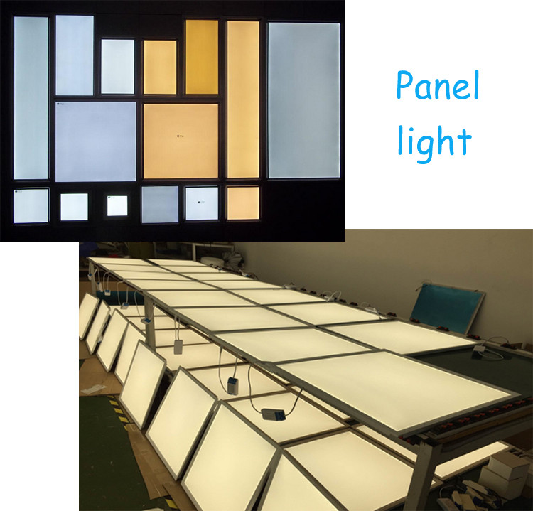 Commercial lighting 18W 24W 36W 48W 72W Slim square ceiling led panel