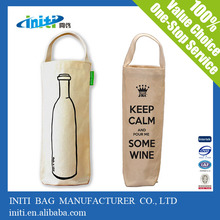 Hot sale high quality canvas wine bag