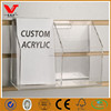 Clear acrylic display slatwall shelf for brochures and post cards