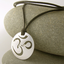 New high quality stainless steel silver om pendant wholesale