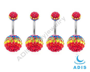 Surgical Steel Wholesale Jewelled Ferrido Piercing Navel Belly Rings