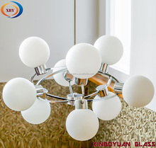 frosted opal white milk glass ball for light shade wholesales
