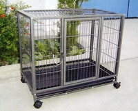 standard carton strong folding sloping wire metal dog cages