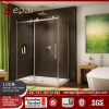Frameless 2 sided glass shower enclosure room