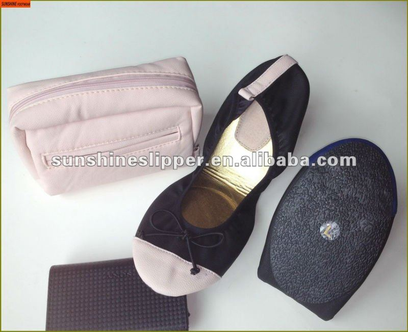 fold up ballerina shoes in bag rollasole