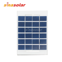 6V 400mA High Efficency Mini Glass Laminated Solar Panel