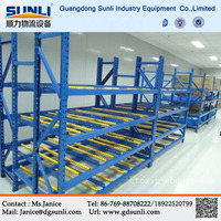 Alibaba Dongguan Manufacturers Wholesale Carton Gravity Flow Storage Mobile Warehouse Shelf