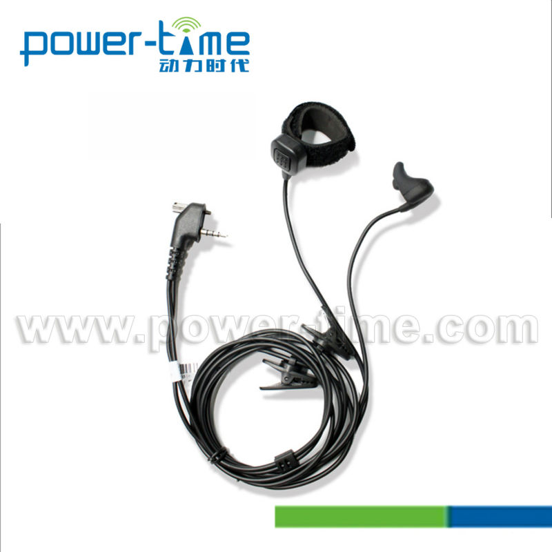 Bone Conduction microphone Ear bone mic with Finger PTT for DP3400,DP3600(PTE-500)