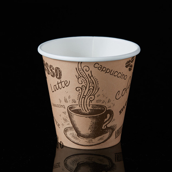 Custom printed single wall paper cups cute fashion design paper cups