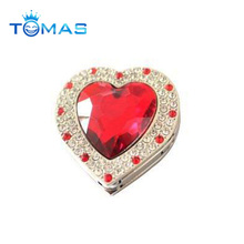 Cute heart rhinestone bag hanger mother's day promotional gifts