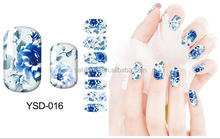 Full cover beautiful nail art sticker/Nail sticker for nail decals /Self adhesive water transfer nail art sticker