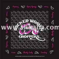 Wicked Woman Choppers - Shady Lady Bandanas - Dozen Packed 22x22