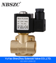 High quality pilot operated type normally closed water solenoid valve 220v ac