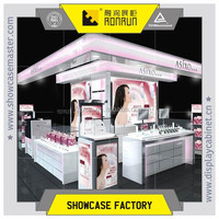 Modern cosmetic shop decoration ,glass cosmetic shops display stands ,mall kiosk design
