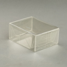 Clear soft crease plastic box with soft folding line,High quality soft crease PVC PET plastic clear boxes with low cost