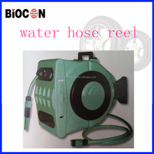 automatic rewind wall mounted water hose reel car wash equipment/rewindable water hose reel with 28 meter of 1/2 inch hose